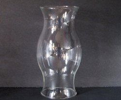 Hurricane Shade Bulbous Sleeve Clear Glass 8.5  x 3.75 x 3 5/8