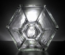 '.Glass Vase Hexagon Heavyweight.'