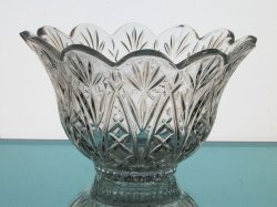 Crystal Candle Holder Flared and Scalloped Rim Heavyweight HCH098