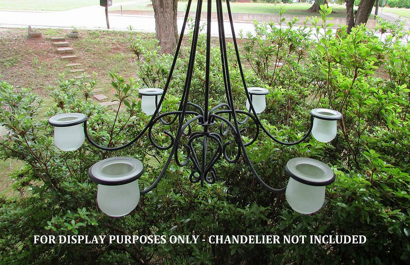 Hanging Candle Holder Frosted Crock for 2 3/8 - 2.5 inch rings HCH099