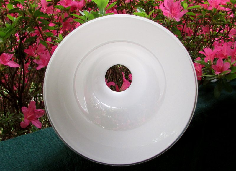 Glass Lamp Shade White Bell Shape 2 1/8 inch fitter 5.5 H x 6.75 W