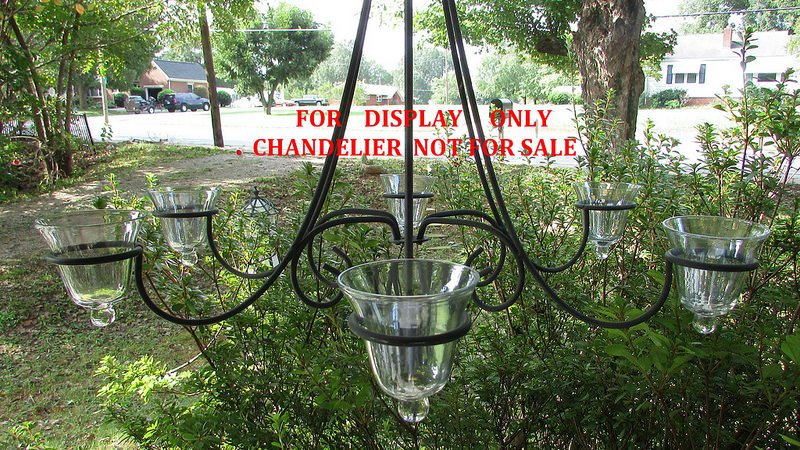 Hanging Candle Holder Flared Rim with Knob 3.25 w x 3.5 h iridescent HCH100 in chandelier