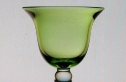Hanging Candle Holder Flared Rim with Knob 3 7/8 w x 4 h Green HCH101