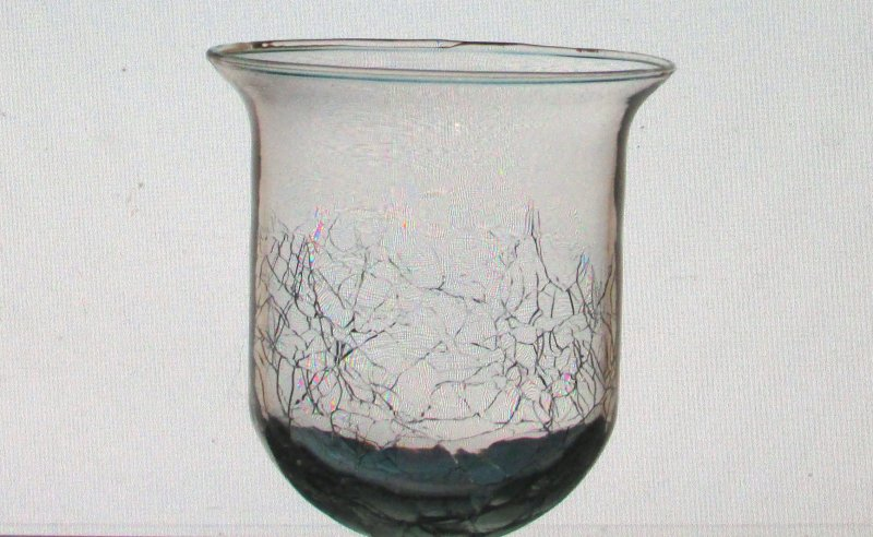 Hanging Candle Holder Crackle Glass Clear Partylite HCH102