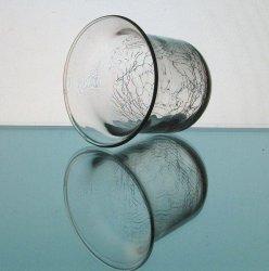 '.Candle Holder Crackle Glass.'