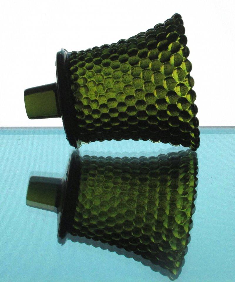 Home Interiors Peg Votive Candle Holder Dark Olive Green Hobnail