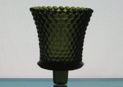 Home Interiors Peg Votive Candle Holder Dark Olive Green Hobnail