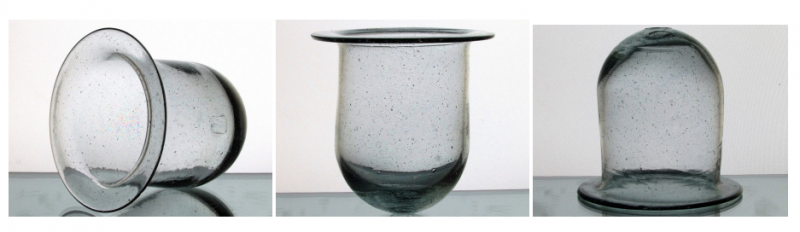 Image 5 of Hanging Candle Holder Flat Rim 5.25 x 5.25 Clear Bubble Glass HCH107 OOS