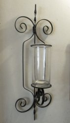 '.Wrought Iron Wall Sconce XL.'