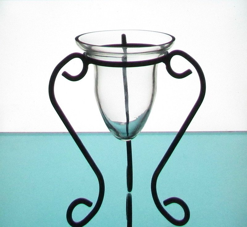 Hanging Candle Holder / Vase 4.75 x 5 Heavy Glass Flared Rim HCH011
