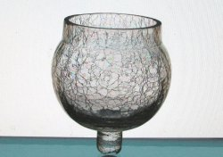 '.Peg Votive Crackle Glass.'