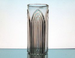 Hurricane Sleeve Heavy Glass Gothic Crystal 7 1/8 x 3.25
