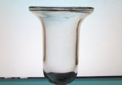 Hanging Candle Holder Clear Heavy Glass 6 5/8 x 5.25 Wide Flared Rim HCH110