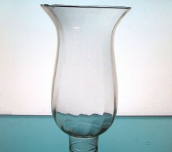 Hurricane Shade 1.75 inch fitter x  7.75 x 4.75 Clear Glass Ribbed Flared Rim