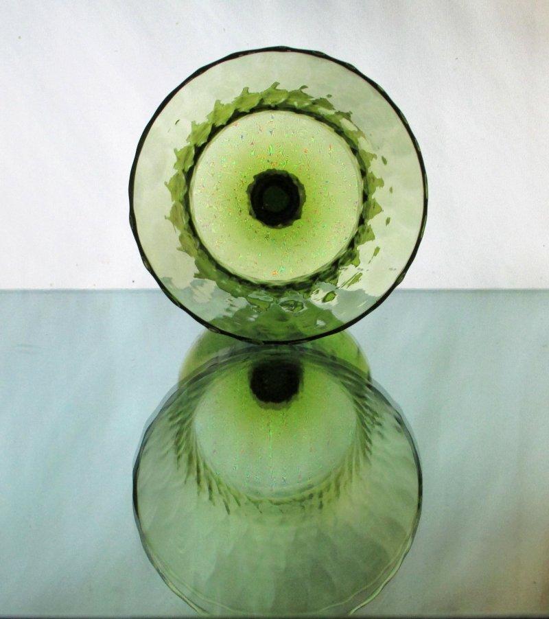 Home Interiors Peg Votive Candle Holder Flared Olive Green Tudor Style