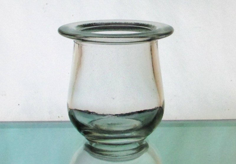 Hanging Candle Holder Clear Crock  HCH113