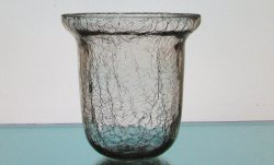 Hanging Candle Holder Crackle Glass 4.25 x 4.25 HCH114