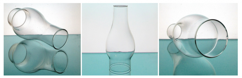 Hurricane Shade 3 inch Fitter x 8.5 x 2 Clear Bulbous 4 inches w