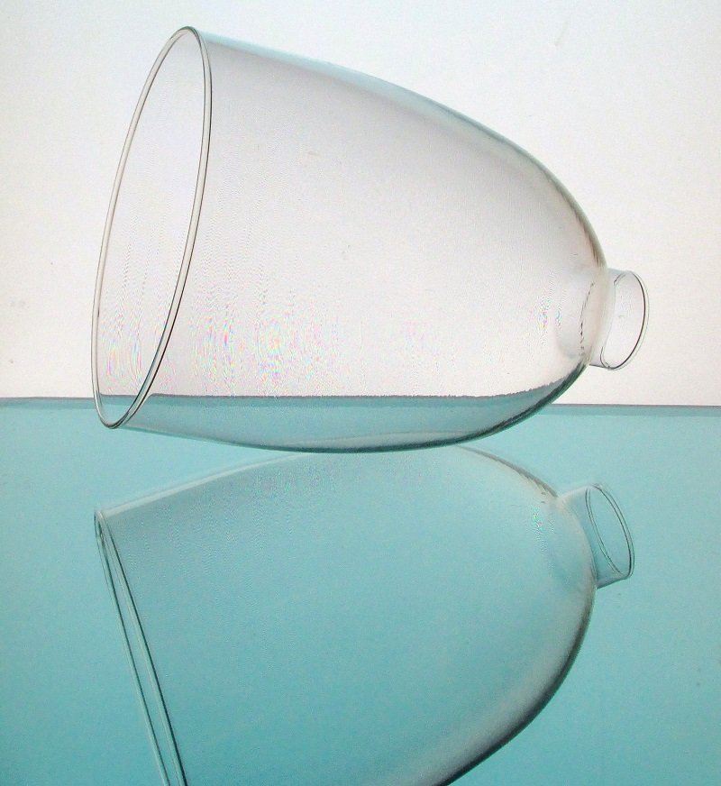 Glass Lamp Shade 1.75 inch fitter x 6 x 8 Pop Bottle