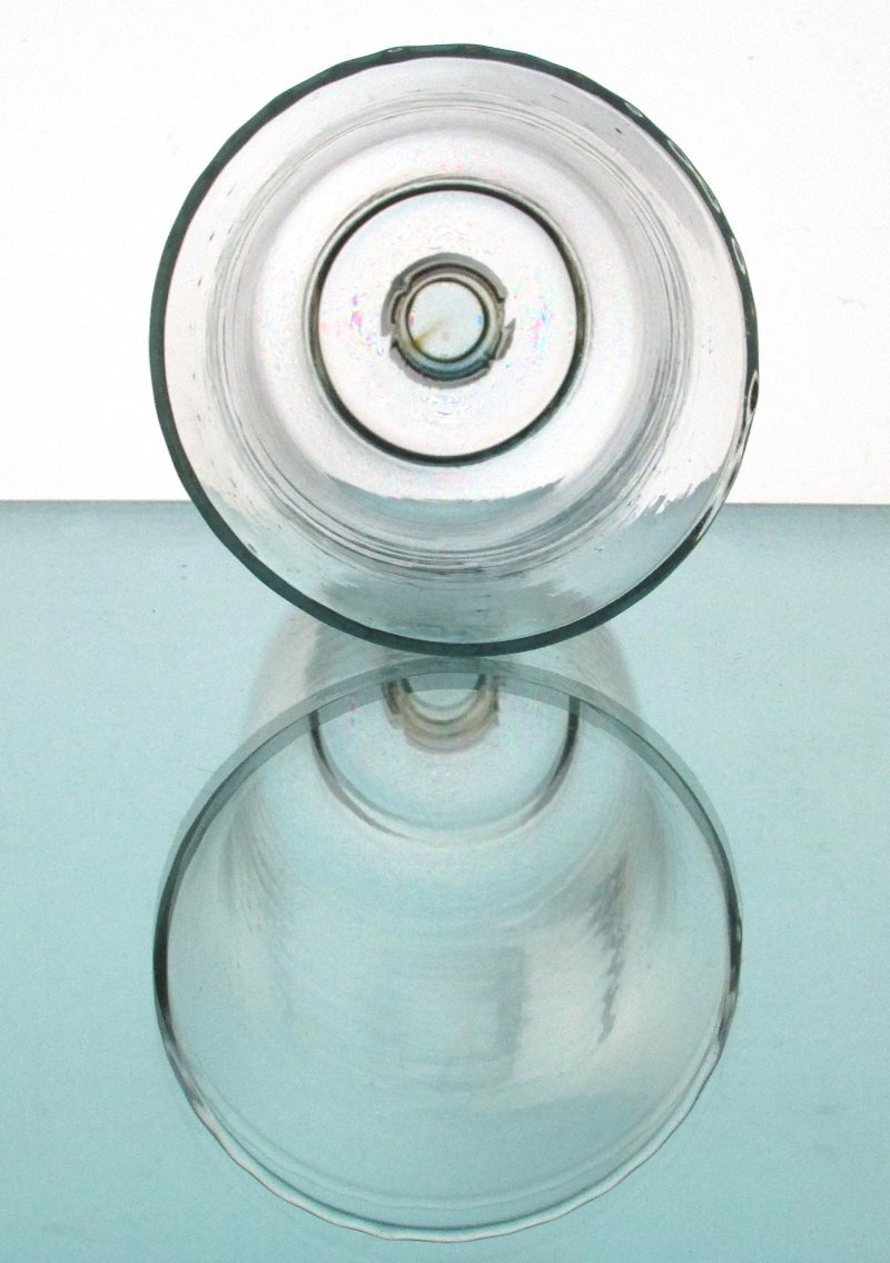 Peg Votive Candle Holder Lightly Blurred Mexican Glass