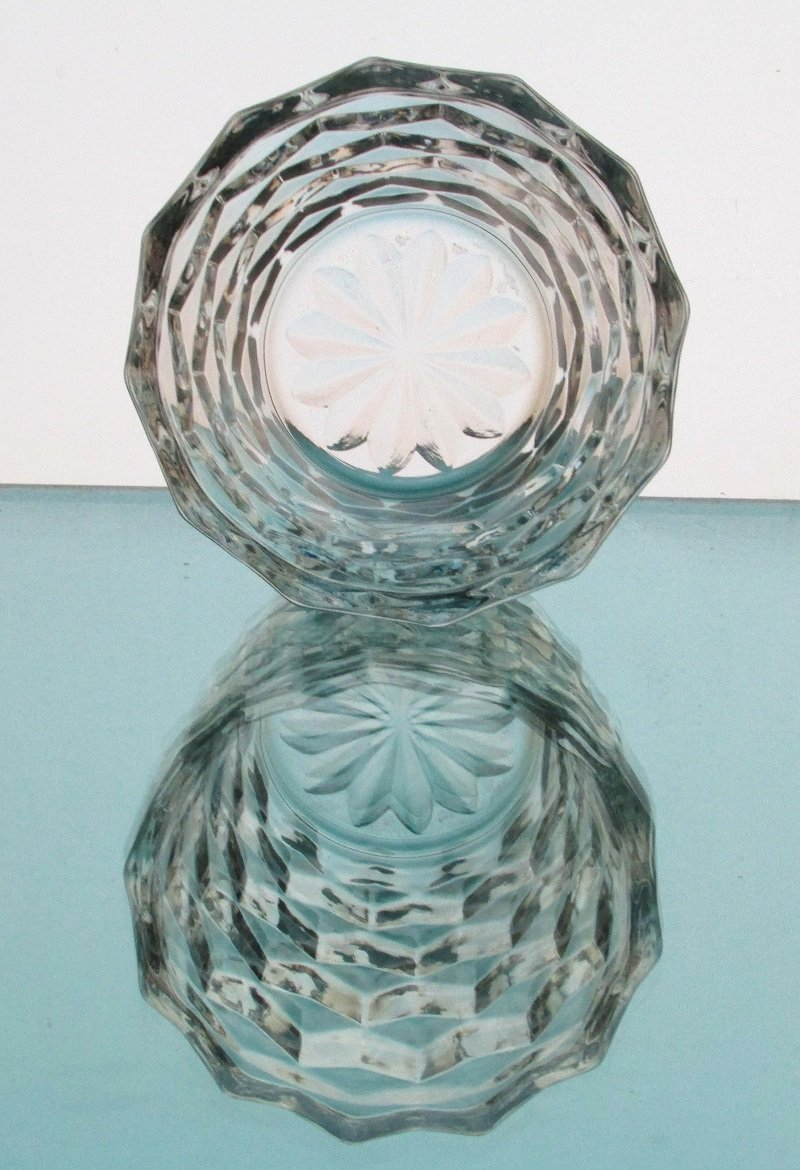 Hanging or Table Top Fostoria Style Candle Holder 3.5 x 2 7/8 Clear Glass HCH125