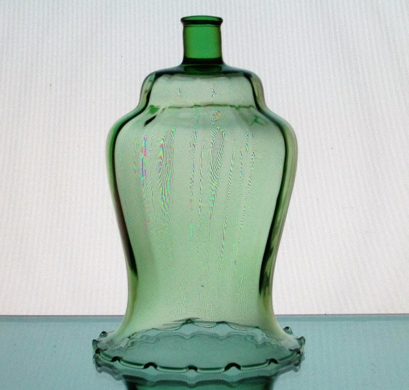 Home Interiors Peg Votive Candle Holder Pale Green Crimped 1195-1