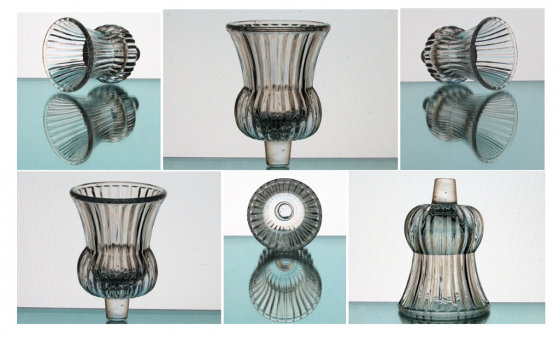 Peg Votive Candle Holder Ridged Crystal Flared Rim Clear Partylite