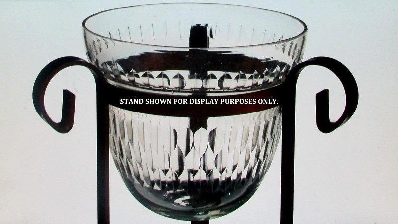Hanging Candle Holder 5 x 5 5/8 Cinched with Beveled Design HCH131 Stand is for display only. Not included.