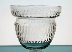 Hanging Candle Holder 5 x 5 5/8 Cinched with Beveled Design HCH131