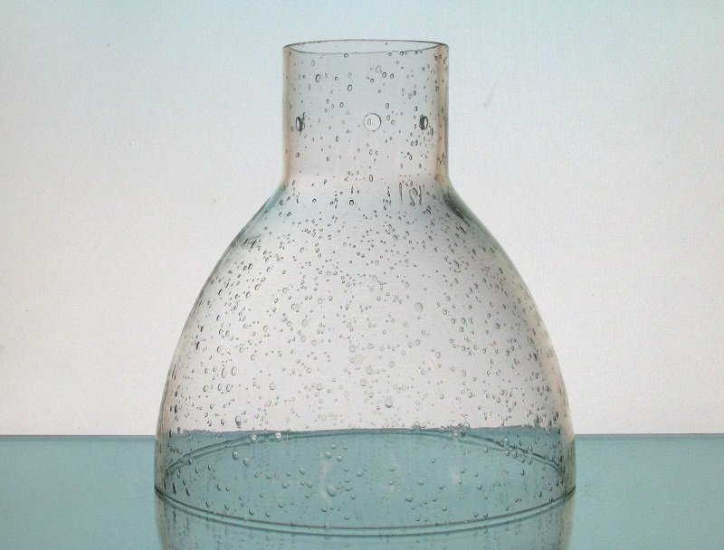 Glass Lamp Shade Seeded Dome Clear 2.75 inch fitter x 6.75w x 7h
