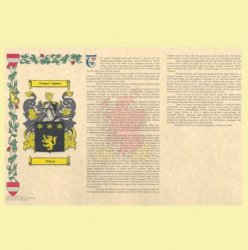 Armorial History with Coat of Arms and History of Surname Landscape Style