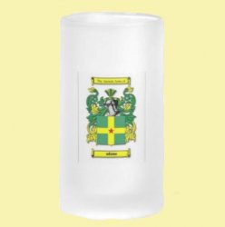 Adams Coat of Arms Adams Family Crest 16oz Frosted Glass Beer Stein