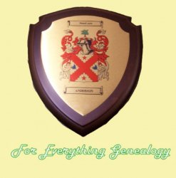 Anderson Coat of Arms Anderson Family Crest Wooden Plaque