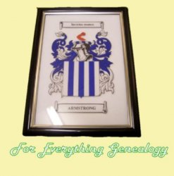 Armstrong Coat of Arms Armstrong Family Crest Framed Print