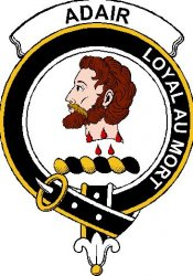 Adair Clan Badge Print Adair Scottish Clan Crest Badge