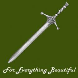Claymore Sword Scotland Antiqued Stylish Pewter Kilt Pin