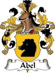 Abel German Coat of Arms Large Print Abel German Family Crest