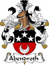 Abendroth German Coat of Arms Large Print Abendroth German Family Crest