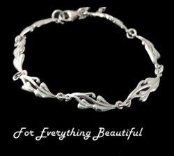 Art Nouveau Glasgow Girls Sterling Silver Necklace