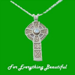 Celtic Cross Diamond Drop Design 9K Yellow Gold Pendant