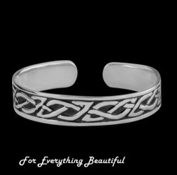 Celtic Knotwork Antiqued Sterling Silver Bangle Bracelet