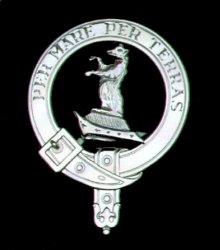 Alexander Clan Badge Polished Sterling Silver Alexander Clan Crest