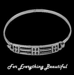 Mackintosh Elongated Links Ladies Sterling Silver Bangle