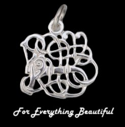 Anglian Beast Design Sterling Silver Charm