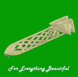 Celtic Triangular Knotwork 9K Yellow Gold Kilt Pin