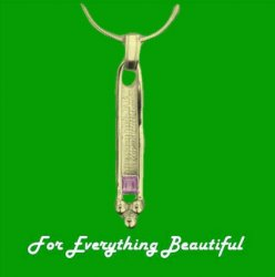 Art Deco Rectangular Pink Tourmaline 9K Yellow Gold Pendant
