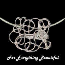 Anglian Beast Design Sterling Silver Pendant