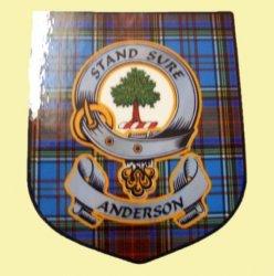 Anderson Clan Tartan Clan Anderson Badge Shield Decal Sticker
