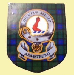 Armstrong Clan Tartan Clan Armstrong Badge Shield Decal Sticker
