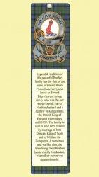 Armstrong Clan Badge Clan Armstrong Tartan Laminated Bookmark